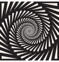 Black and white spiral triangles swirl vector