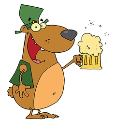 St Patricks Day Bear vector image
