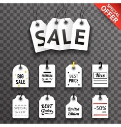 Price sale text tag symbol labels icons set vector