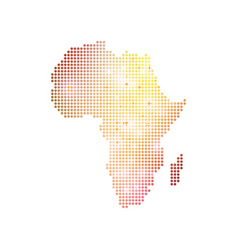 Dotted africa map geometric graphic background vector
