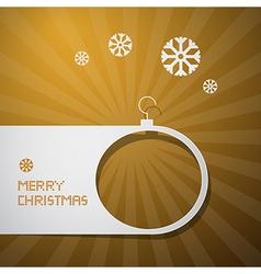 Merry Christmas Golden Background vector image