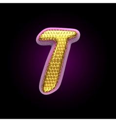 Golden and pink letter t vector