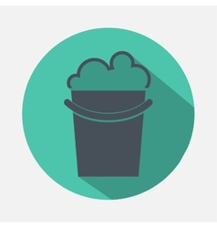 Bucket with detergent icon vector