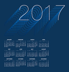2017 creative colorful calendar vector