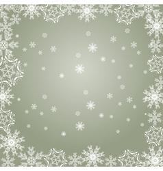 Snowflakes gray vector