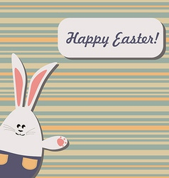 Easter bunny on stripped background vector