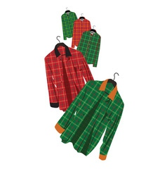 Plaid shirt vector