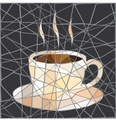 Coffee cup mosaic vector image