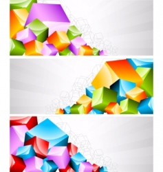 Geometric banners vector