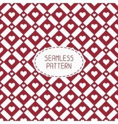 Red romantic wedding geometric seamless pattern vector