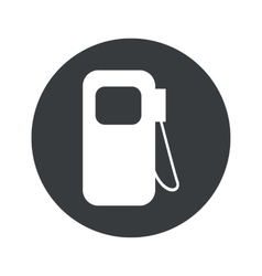 Monochrome round gas station icon vector