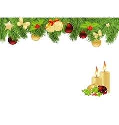 Xmas fir frame vector