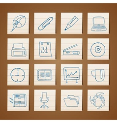Office tools icons vector