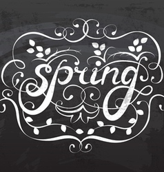 Spring lettering calligraphy vector