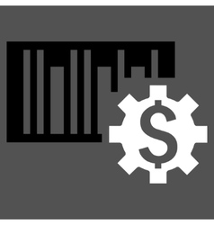 Barcode price setup flat icon vector