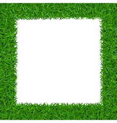 Green grass square frame with copy-space 2 vector