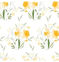 Seamless pattern with stylized cute yellow vector image