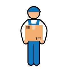 Deliver man icon delivery design graphic vector