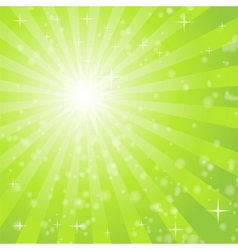 abstract background with green light rays vector image