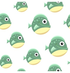 Ball fish football vector image vector image