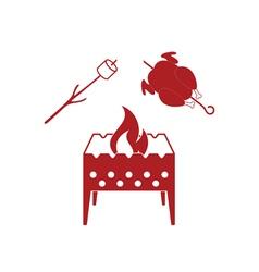 Brazier zephyr and chicken icon vector