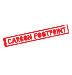 carbon footprint rubber stamp vector image vector image