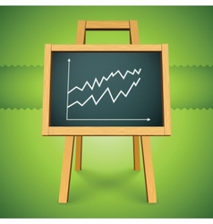 chalkboard with finance business graph vector image vector image