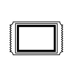 Cinema ticket isolated icon vector