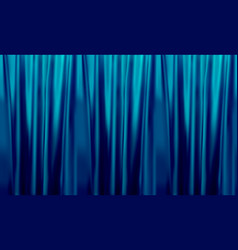 Colorful naturalistic gradient blue curtains vector