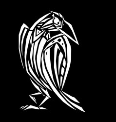 crow in ethnic style vector image vector image