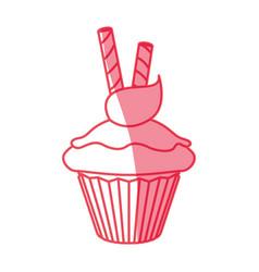 cupcake dessert sweet vector image vector image