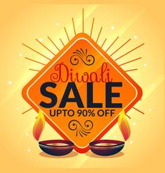 Diwali sale banner celebration offer template vector