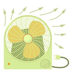 Fan heater icon cartoon style vector