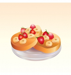 fruit pie vector image
