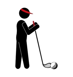Golf player avatar icon vector