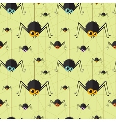 halloween spider seamless background vector image