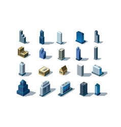 Isometric buildings vector