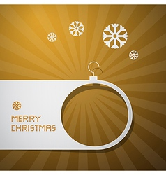 Merry Christmas Golden Background vector image vector image