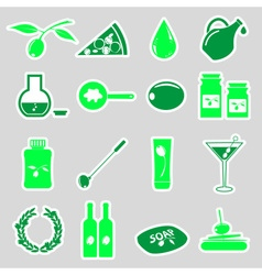 olives and olives product theme simple stickers vector image vector image