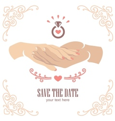 Proposal hand vector image vector image