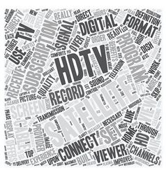 Satellite tv hdtv 1 text background wordcloud vector