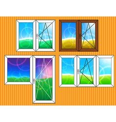 Set of window templates vector image