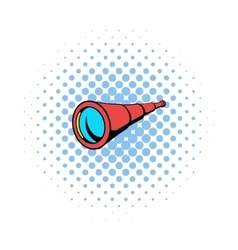 Spyglass icon in comics style vector image
