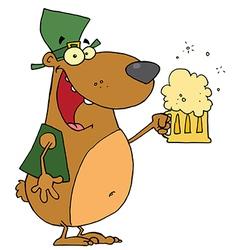 St patricks day bear vector