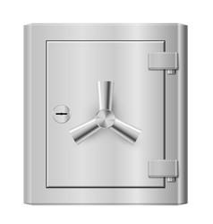 steel safe on white background for design vector image vector image