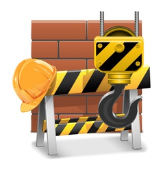 Under Construction Concept with Bricks vector image vector image