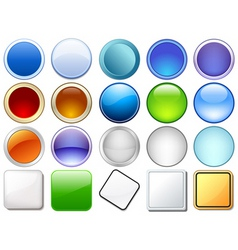 variety of glossy icons vector image vector image