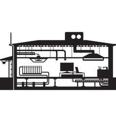 AH 542Different building installations vector image