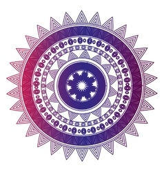 Icon mandala india culture design vector