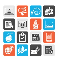 Business and market analysis icons vector